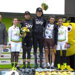 Il podio di Funes: doppia premiazione per Thomas