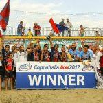 La Sambenedettese alza al cielo la Coppa Italia di beach soccer