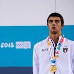 Olimpiadi giovanili, la premiazione dei 50 stile libero
