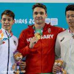 Olimpiadi giovanili, la premiazione dei 400 stile libero